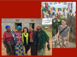 Dr. Rodriguez with women in Tanzania (more info below); Dr. Bevis in Kathmandu, Nepal